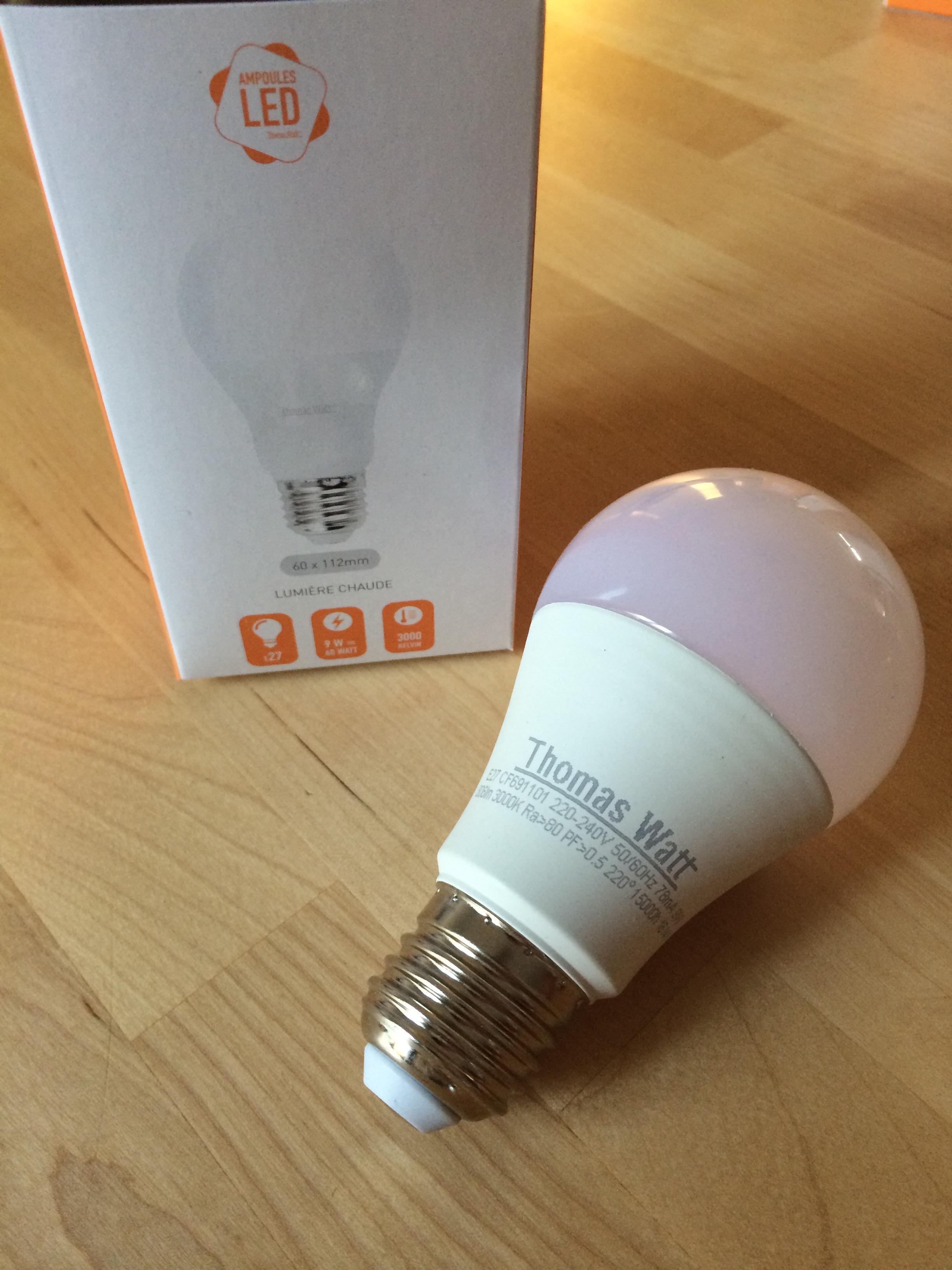 J'ai reçu mes ampoules gratuites